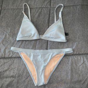 LA Hearts PacSun light blue size M bikini